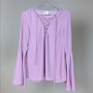 BLOUSE WITH FLARED SLEEVES